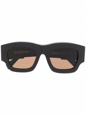 Солнцезащитные очки C8 в квадратной оправе Kuboraum. Цвет: черный