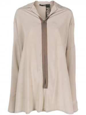 Рубашка 1990-х годов свободного кроя на молнии Gianfranco Ferré Pre-Owned. Цвет: нейтральные цвета