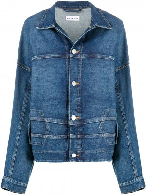 Upside Down denim jacket Balenciaga. Цвет: синий
