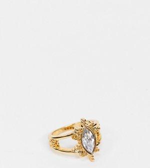 Кольцо с покрытием из 14-каратного золота камнем Inspired-Золотой Reclaimed Vintage