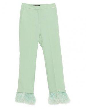 Укороченные брюки ANNARITA N. Цвет: светло-зеленый