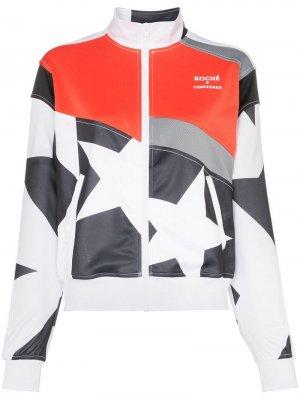 Спортивная куртка из коллаборации с Koché Converse. Цвет: белый