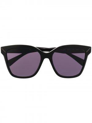 Солнцезащитные очки в квадратной оправе Yohji Yamamoto. Цвет: 001 черный