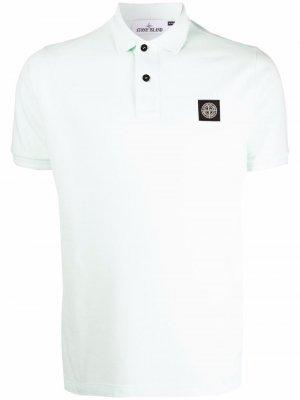 Рубашка поло с нашивкой-логотипом Stone Island. Цвет: зеленый