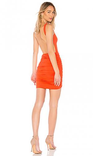 Облегающее платье с открытой спиной dani by the way.. Цвет: оранжевый