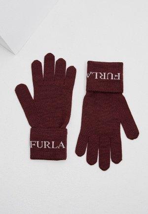 Перчатки Furla EVA. Цвет: бордовый
