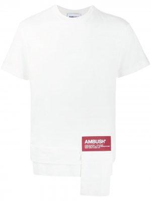 Футболка с нашивкой-логотипом AMBUSH. Цвет: белый