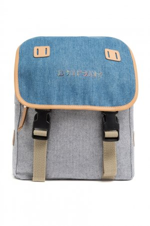 Серый рюкзак с клапаном Bonpoint. Цвет: multicolor