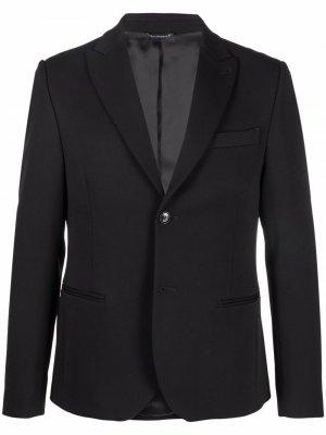Однобортный пиджак Daniele Alessandrini. Цвет: черный