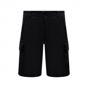 Хлопковые шорты C.P. Company. Цвет: чёрный