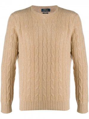Chunky cable knit Polo Ralph Lauren. Цвет: коричневый