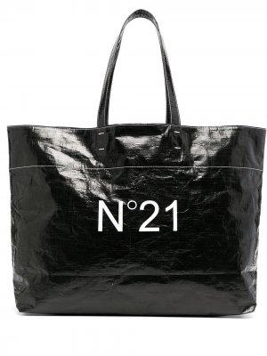 Сумка-тоут с логотипом Nº21. Цвет: черный