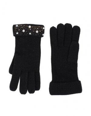Перчатки GAUDÌ. Цвет: черный