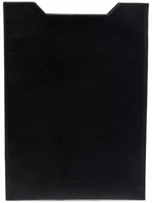 Чехол для ноутбука с логотипом Rick Owens. Цвет: черный