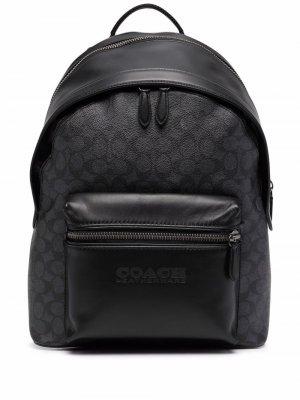 Рюкзак из канваса Coach. Цвет: черный