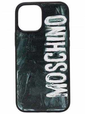 Чехол для iPhone 12 Pro Max с логотипом Moschino. Цвет: черный