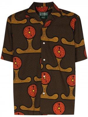Рубашка Yall Know Time с принтом Gitman Vintage. Цвет: коричневый