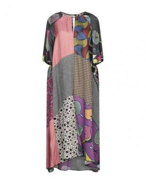 Платье длиной 3/4 HACHE. Цвет: коралловый