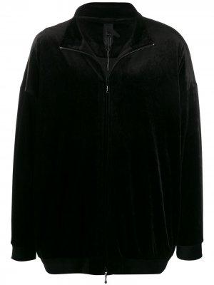 Бархатная спортивная куртка Bernhard Willhelm. Цвет: черный