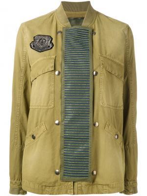 Куртка-бомбер с отделкой Mr & Mrs Italy. Цвет: зеленый