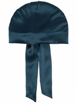 Шапка со сборками и драпировкой Eugenia Kim. Цвет: синий
