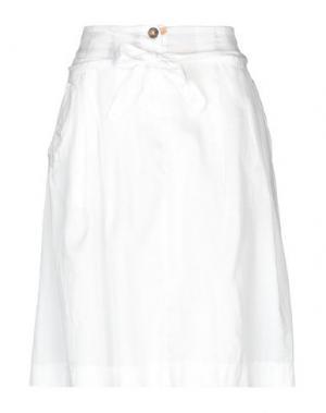 Юбка до колена ALVIERO MARTINI 1a CLASSE. Цвет: белый
