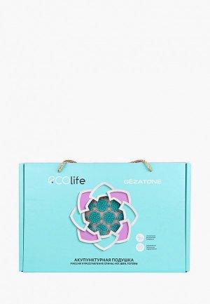Массажер для тела Gezatone коврик акупунктурный 72х42 см бирюзовый EcoLife. Цвет: голубой