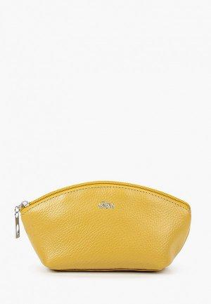 Косметичка Franchesco Mariscotti. Цвет: желтый