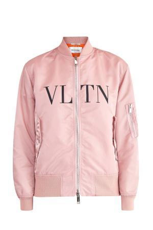 Куртка-бомбер объемного кроя из нейлона с аппликацией VLTN VALENTINO