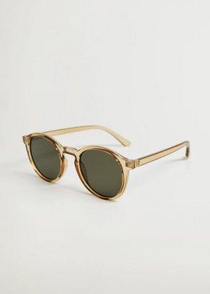 Солнцезащитные очки круглой формы - Porter Mango. Цвет: коньячный