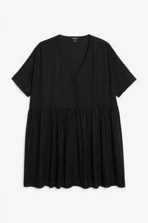 Платье в стиле бэби-долл Monki. Цвет: черный