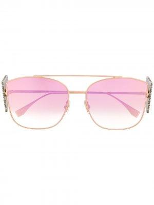 Декорированные солнцезащитные очки FFreedom Fendi Eyewear. Цвет: золотистый