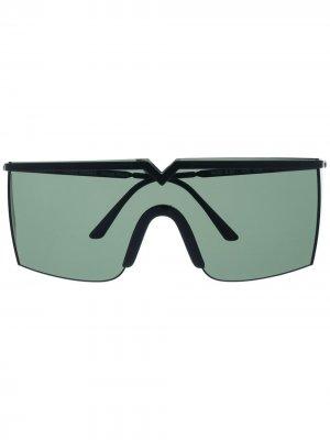 Солнцезащитные очки 1990-х годов с затемненными линзами Versace Pre-Owned. Цвет: черный