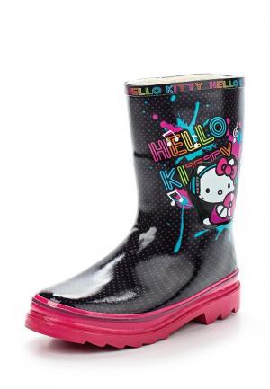 Резиновые сапоги Hello Kitty. Цвет: разноцветный