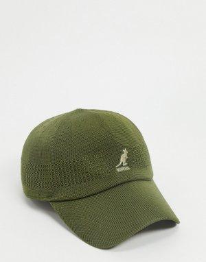 Бейсболка цвета хаки -Зеленый Kangol