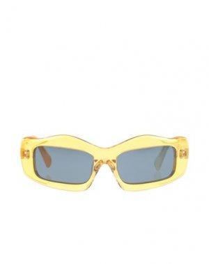 Солнечные очки BRAIN DEAD. Цвет: охра