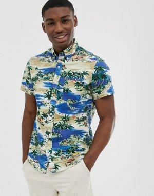 Рубашка с короткими рукавами и принтом J Crew Mercantile-Мульти J.Crew Mercantile