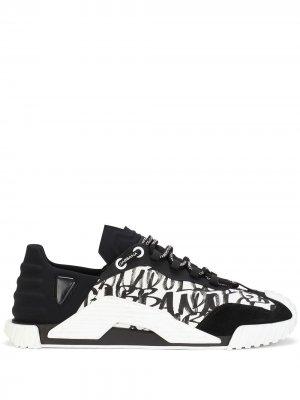 Кроссовки NS1 с логотипом Dolce & Gabbana. Цвет: черный