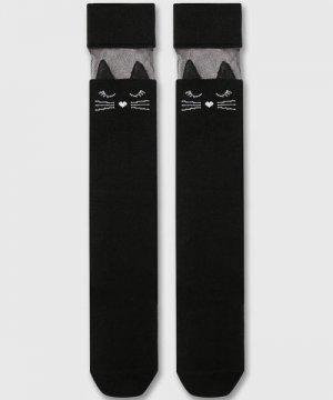 Гольфы для девочек O`Stin. Цвет: черный