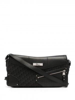 Сумка на плечо с узором Trotter Christian Dior. Цвет: черный