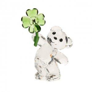Скульптура Kris Bear Lucky Charm Swarovski. Цвет: прозрачный