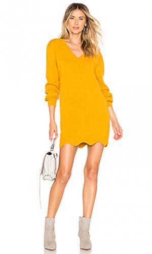 Пуловер с v-образным вырезом delia Tularosa. Цвет: желтый
