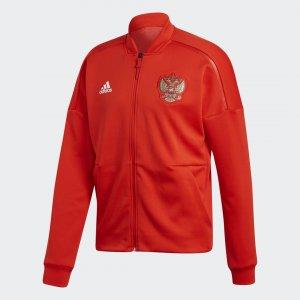 Гимновая куртка Россия Z.N.E. adidas. Цвет: красный