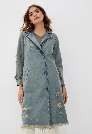 Куртка джинсовая Grafinia. Цвет: серый