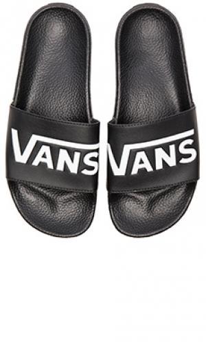 Сандалии slide on Vans. Цвет: черный