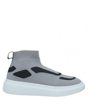 Кеды и кроссовки FESSURA. Цвет: серый