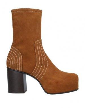 Полусапоги и высокие ботинки PREMIATA. Цвет: верблюжий