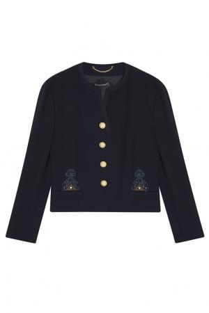 Костюм с юбкой-плиссе Louis Feraud Vintage. Цвет: синий