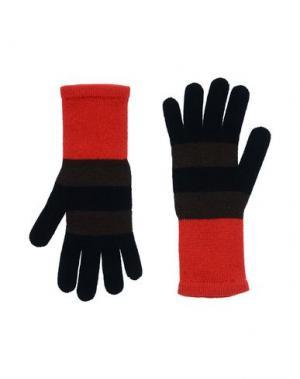 Перчатки FENDI. Цвет: красный