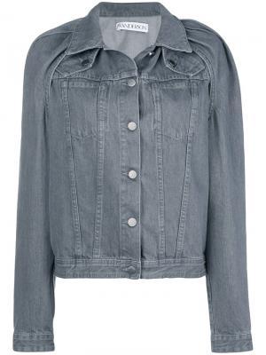 Floating sleeve denim jacket JW Anderson. Цвет: серый